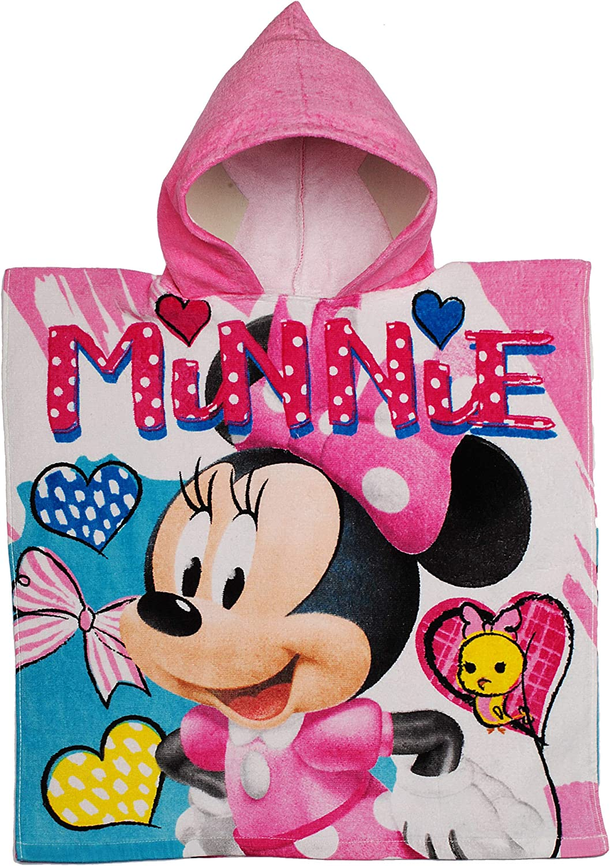 mit Kapuze alles-meine.de GmbH Badeponcho // Kapuzenhandtuch 100 /% Baumwolle inkl 2 bis 8 Jahre Poncho Minnie Mouse 60 cm * 120 cm Frottee // Velours -.. Disney Name