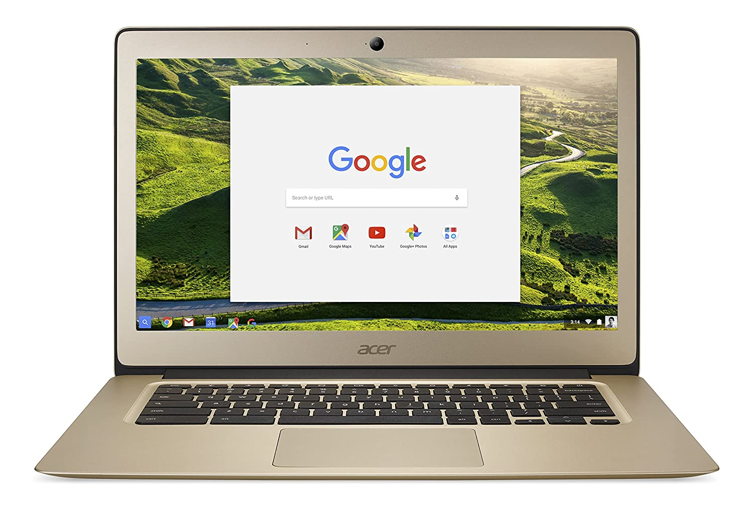 Amazon.com: Acer Chromebook 14, Aluminum, 14-inch Full HD, Intel Celeron  N3160, 4GB LPDDR3, 32GB, Chrome, Gold, CB3-431-C0AK: Computers & Accessories
