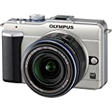 Olympus PEN E-PL1 12.3MP Live MOS Micro Four Thirds Mirrorless Digital Camera with 14-42mm f/3.5-5.6 Zuiko Digital Zoom Lens (Champagne Silver)
