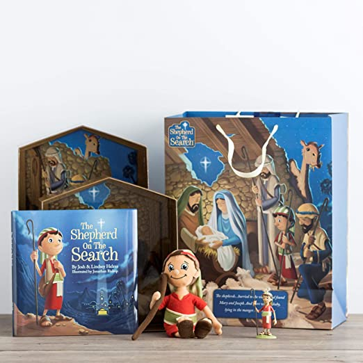 DaySpring Inspirational Christmas The Shepherd On The Search Advent Book 60946 Blue