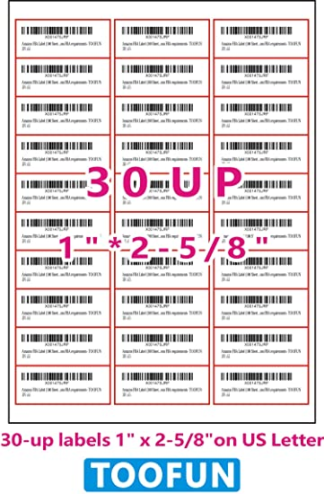 high quality 30 up fba name and address mailing labels 100 sheets