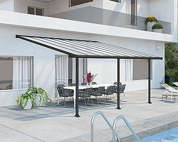 Palram Olympia Cubierta para terrazas, Gris, 546x295x305 cm: Amazon.es: Jardín