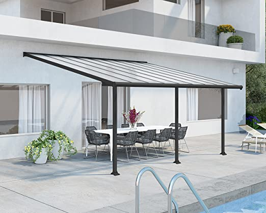 Palram Olympia Cubierta para terrazas, Gris, 546x295x305 cm