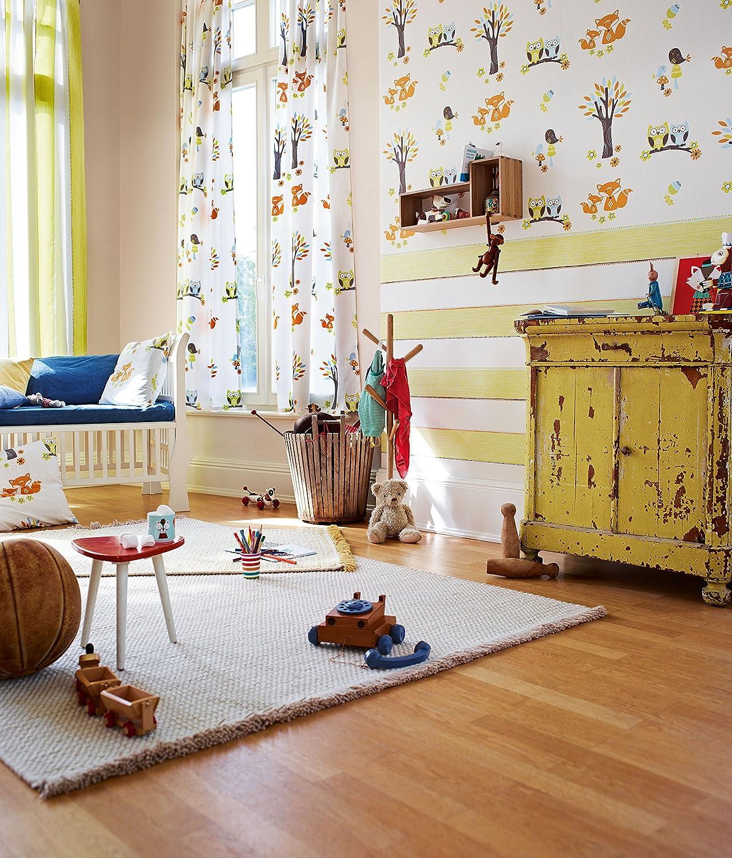 Esprit Kids Vliestapete Forest Tapete Kindertapete 10,05 mx 0,53 m grün  orange weiß Made in Germany 941141 94114-1