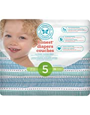 The Honest Company Disposable diapers, teal tribal print polybag, size 5, 25 Count