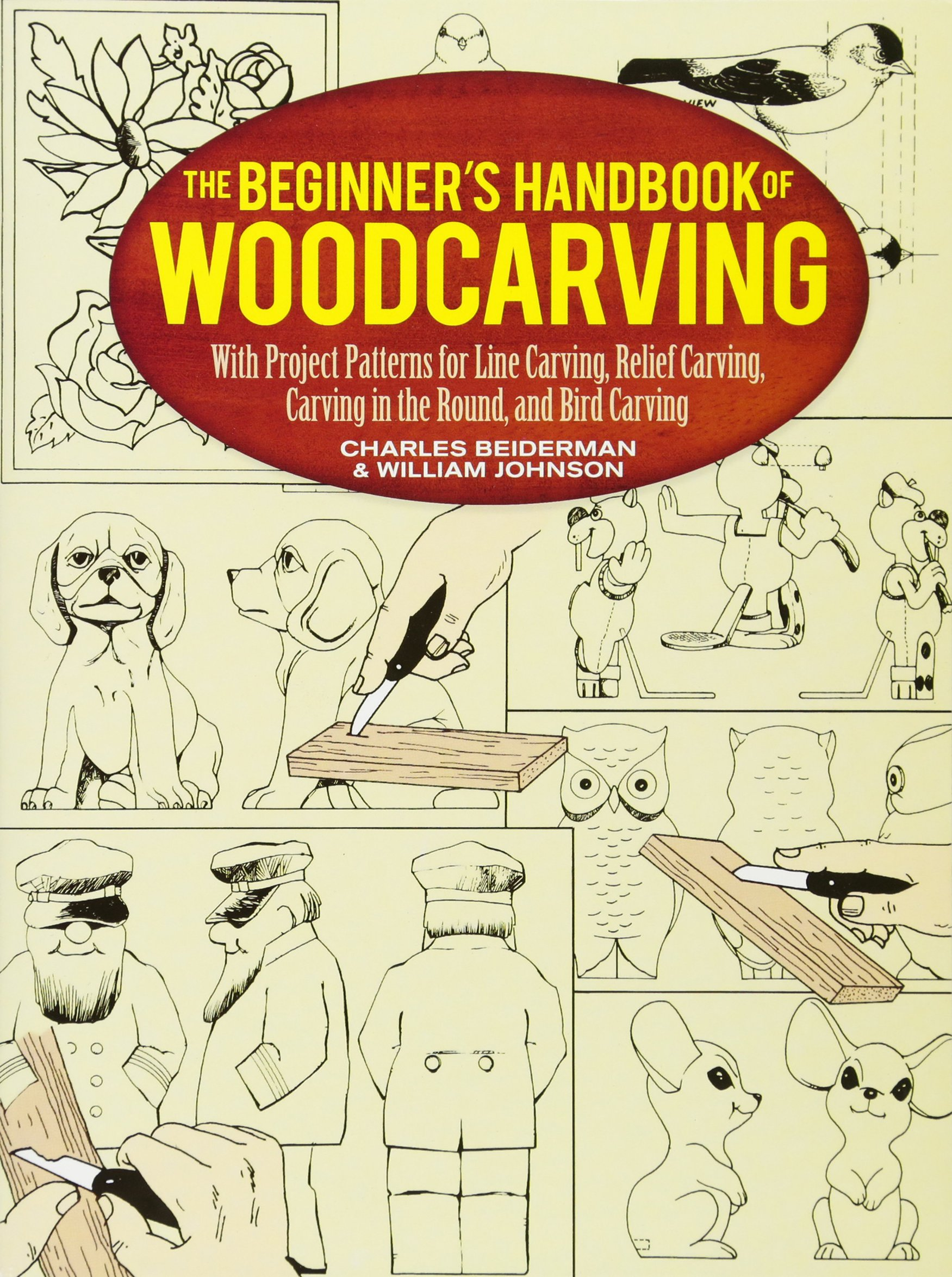 The beginner s handbook of woodcarving with project patterns for