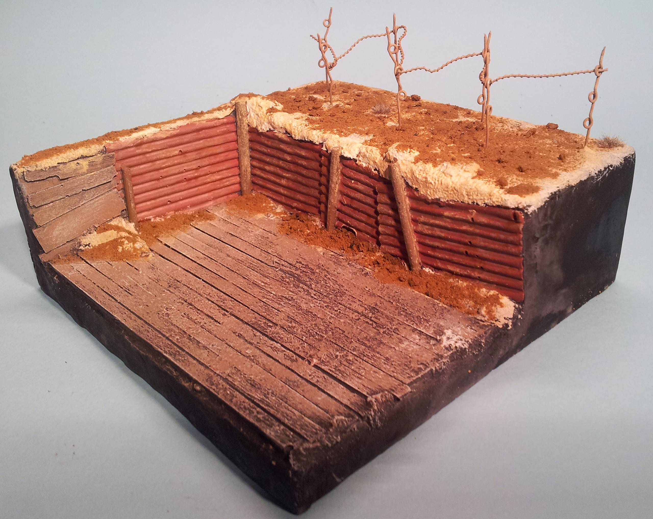 1/35 Scale Trench Vignette base - approx 150mm x 150mm
