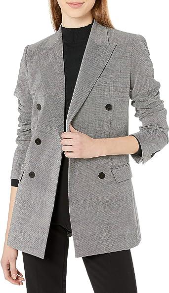 Zimaes-Men Double Breasted Business Premium Relaxed Fit Plaid Suit Vest