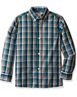 IZOD Boys' Long Sleeve Plaid Shirt