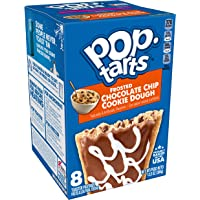 Pop-Tarts, Breakfast Toaster Pastries, Frosted Chocolate Chip Cookie Dough, Proudly Baked in the USA, 13.5oz Box (1 Pack 8 Count)