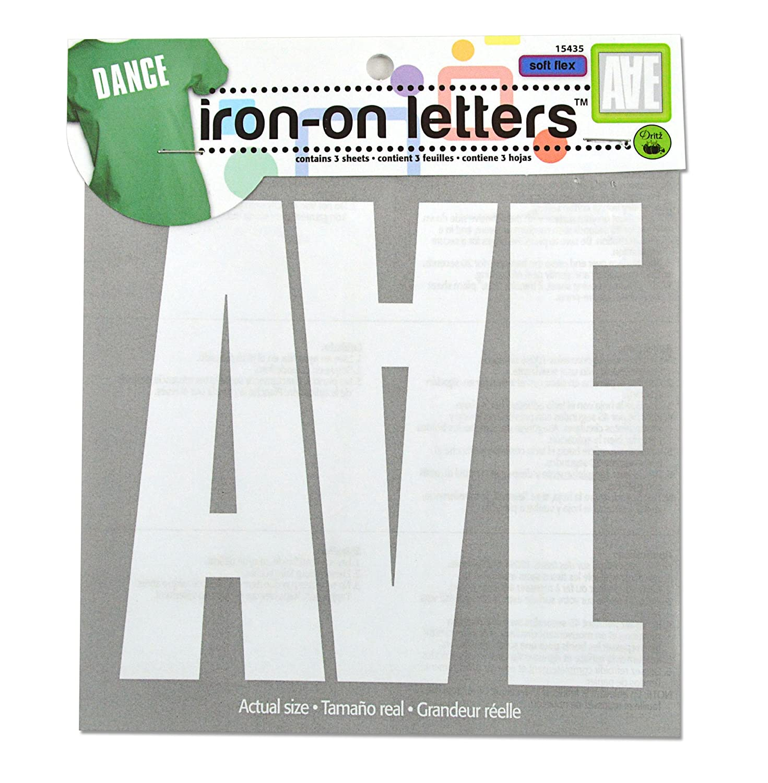 Dritz Iron-On Soft Flex Block Letters 5 - White Prym Consumer USA 15435