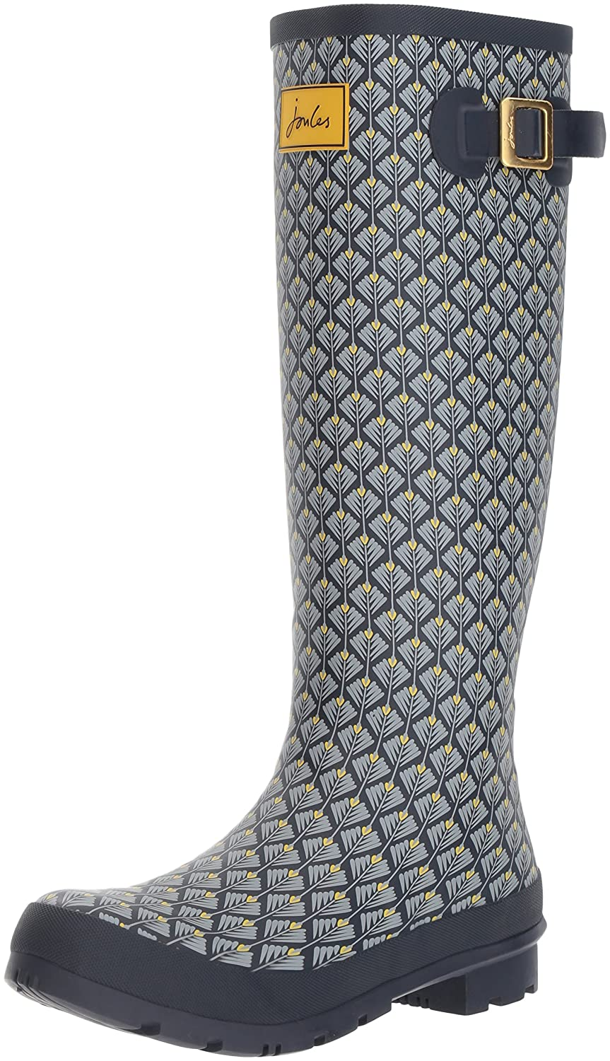 Joules Women's Welly Print Rain Boot B06WGNW6PX 7 B(M) US|French Navy Feather Geo