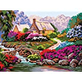 Grafitec Printed Tapestry//Needlepoint Canvas Cottage Gate