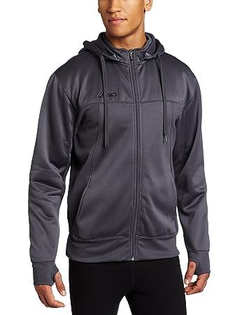 Amazon.com: Asics Men's Poly Tech Zip Hoodie Sweatshirt: Sports ...