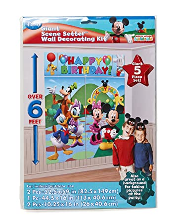 Amazonde Amscan Micky Maus Partyposter