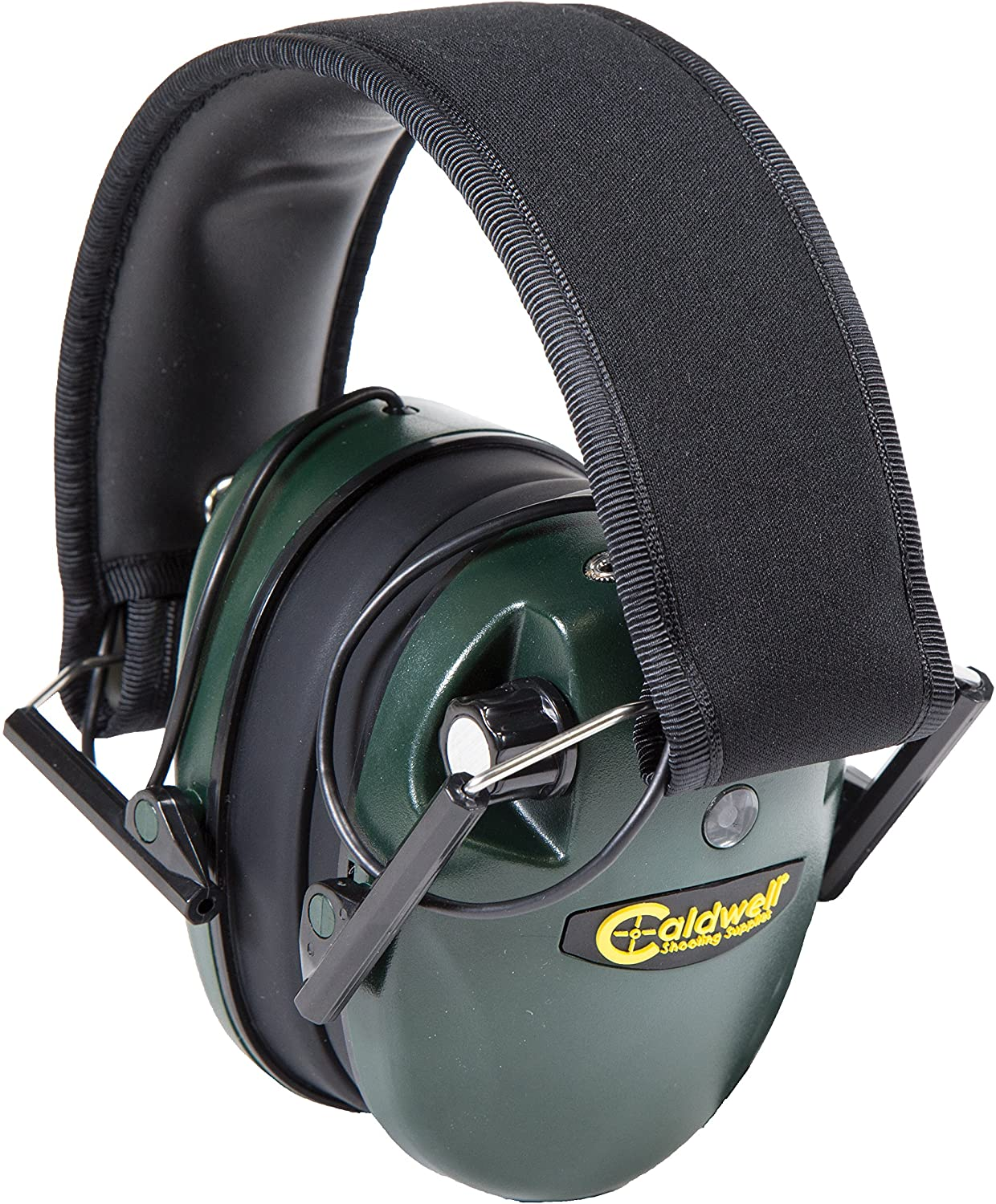 Caldwell E-Max - ADULT Green - Low Profile Electronic 23 NRR Hearing Protection with Sound Amplification - Adjustable Earmuffs for Shooting, Hunting and Range : Hunting Earmuffs : Sports & Outdoors