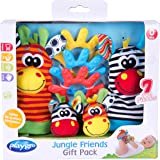 Playgro 0182436107 Jungle Friends Gift Pack STEAM/STEM Toys For Baby Infant Toddler