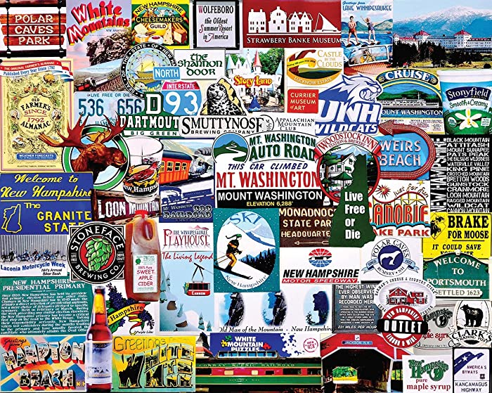 White Mountain Puzzles I Love New Hampshire Jigsaw Puzzle - 1000 Piece Jigsaw Puzzle