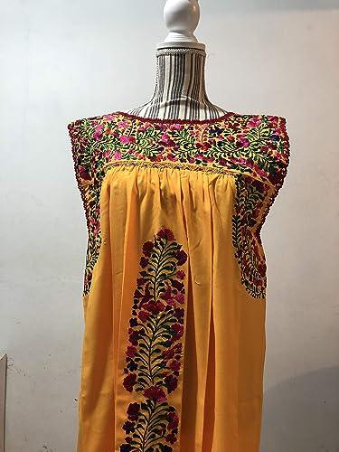 Vestido Bordado Artesanal San Antonino Oaxaca Amazoncommx