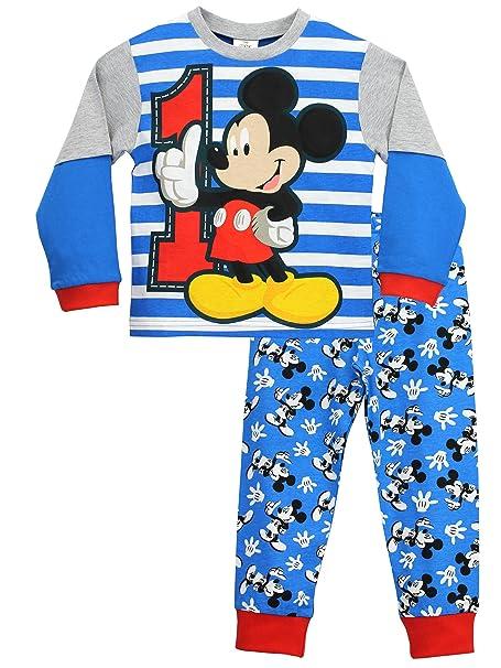 8ea1f2bee0 Disney - Pijama para Niños - Mickey Mouse  Amazon.es  Ropa y accesorios