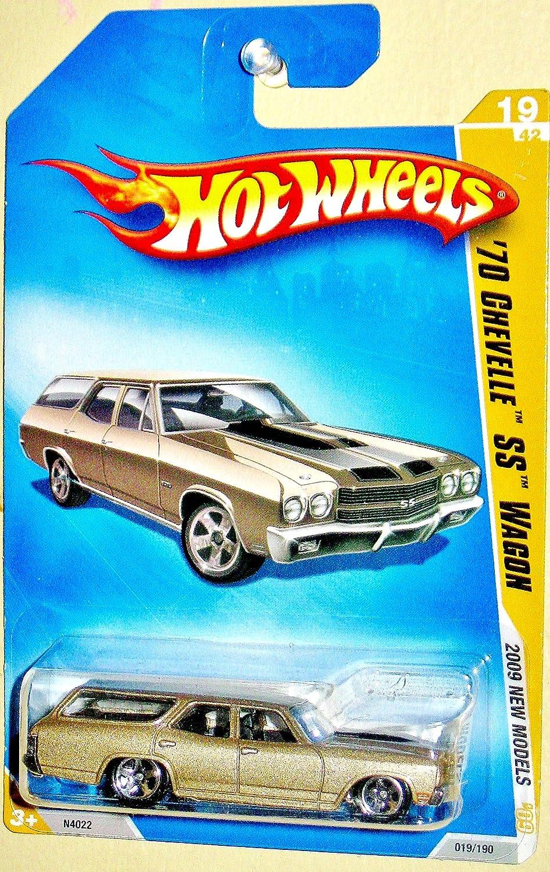 Hot wheels wheels wheels 2009 New models Tan/Gold 1970 Chevelle SS Wagon 1:64 Scale db18fd