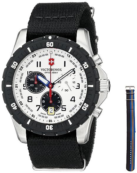 Victorinox 241680.1 del Hombre Negro Reloj de Cuarzo analógica Swiss