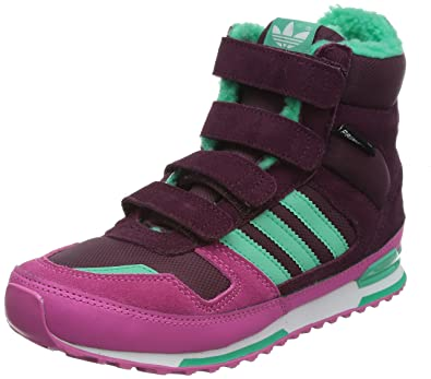 5a946519c adidas Originals Baby ZX Winter Boot Kids Boots Snow Shoes Thick Lined -  Wine Red