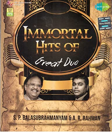Immortal Hits of Great Duo S P Balasubrahmanyam  amp; A R Rahman available at Amazon for Rs.49
