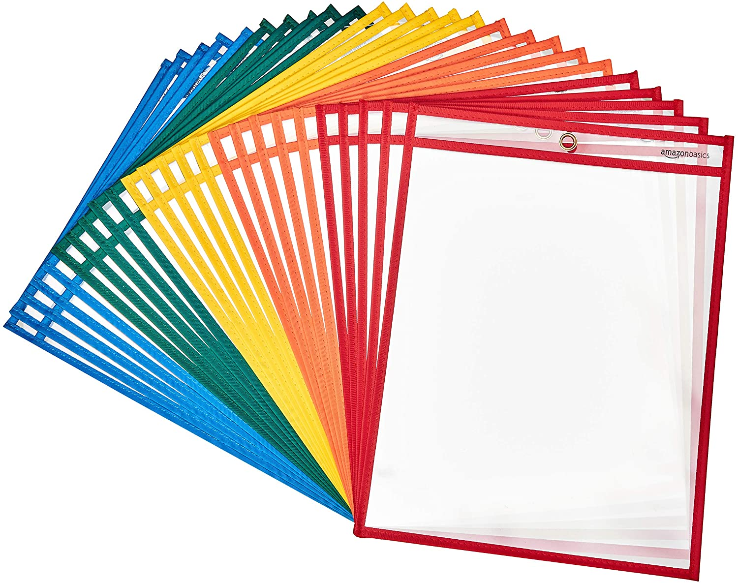 Pack of 25 Heavy Duty Dry Erase Pockets from the Our Must Haves: Essential Homeschool Supply Checklist article from That Homeschool Family written by Elizabeth Dukart