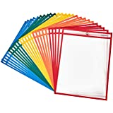 "Amazon Basics Heavy Duty Dry Erase Ticket Holder Pockets 8.5"" X 11"", Pack of 25"