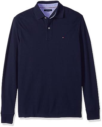 Tommy Hilfiger Hombres 78B8236 Manga Larga Camisa Polo - Azul - 5X ...