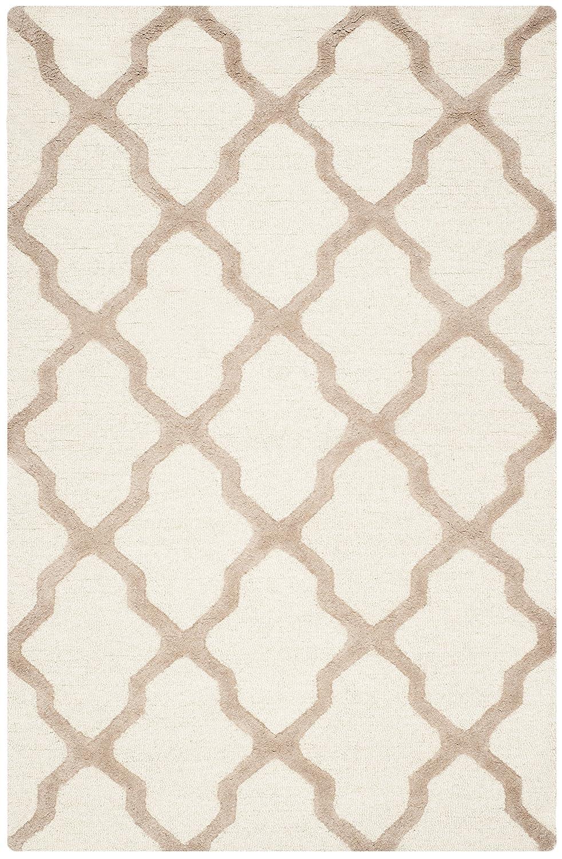 Safavieh Ava handgetufteter Teppich, CAM121P, Elfenbein   Beige, 121 X 182  cm