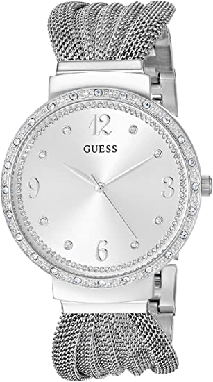 GUESS Women's Stainless Steel japanese-quartz Watch with Mesh Strap