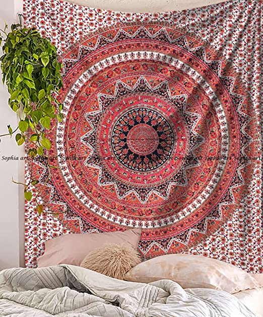 Indian Hippie Wall Hanging Mandala Tapestry Queen Throw Ethnic Bedspread Decor