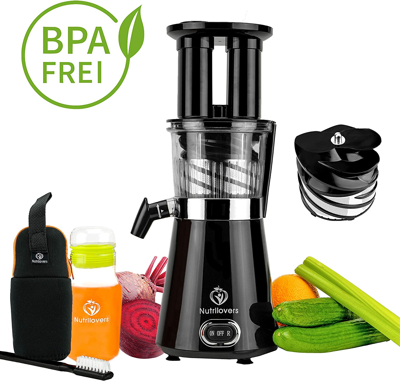 NUTRILOVERS Slow Juicer Entsafter BPA frei   Elektrische
