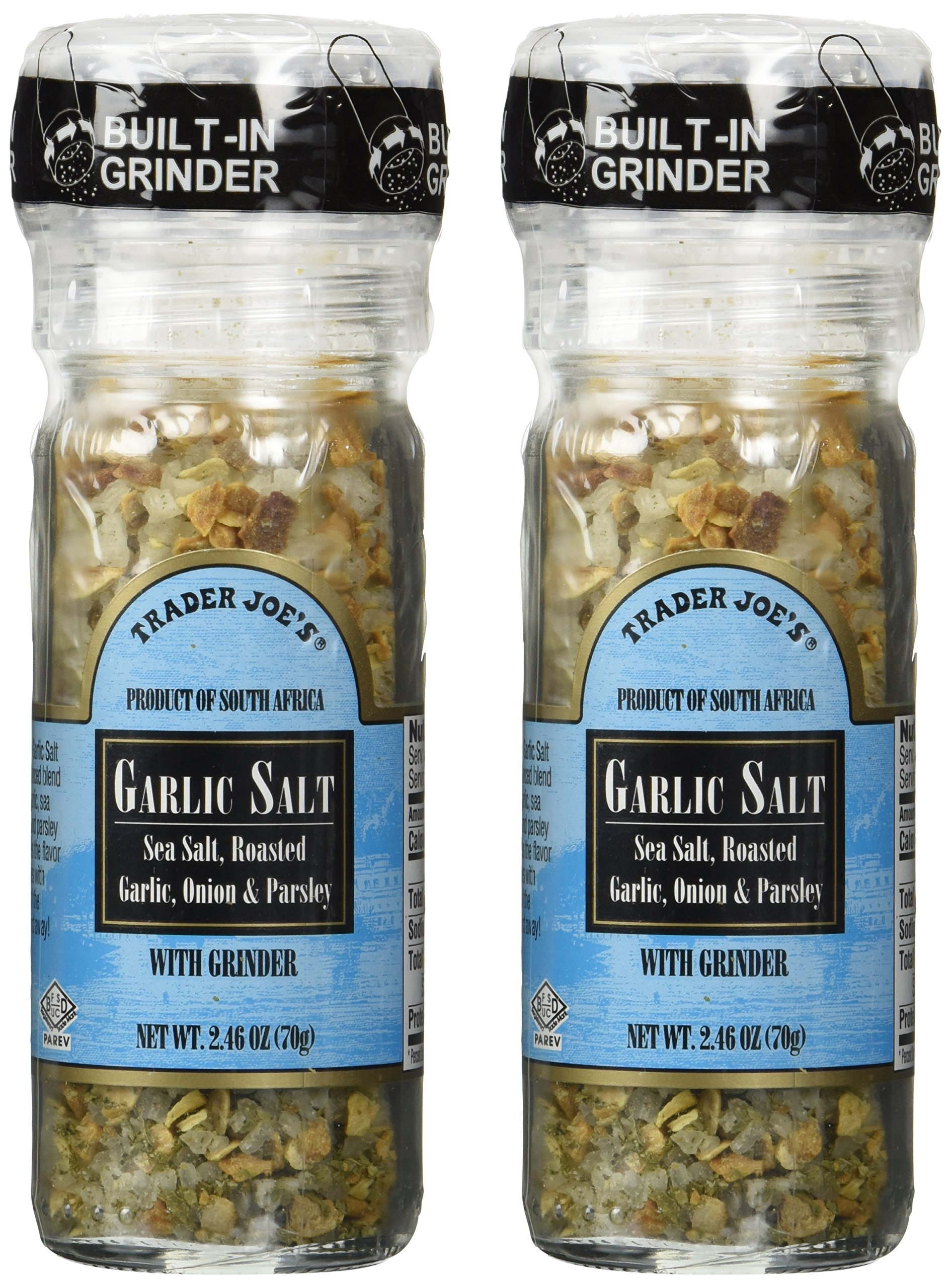 Trader Joe's Garlic Salt with Grinder, 2-Pack