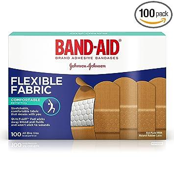 amazon com band aid brand flexible fabric adhesive bandages for