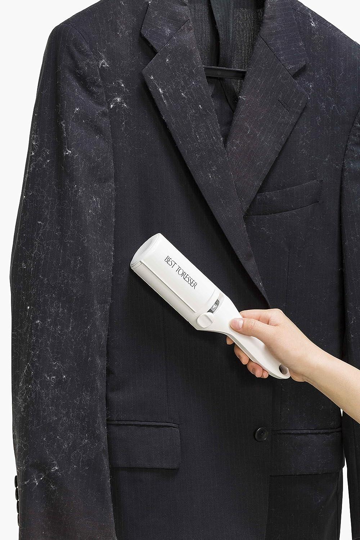 洋服のほこり取り用の白いエチケットブラシ