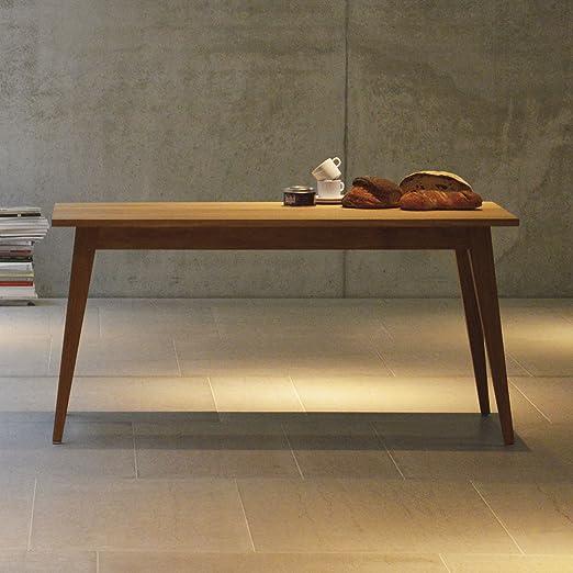 Xaver mesa roble macizo, 150 x 75 cm: Amazon.es: Hogar