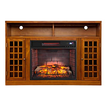 Amazon Com Bowery Hill Infrared Electric Fireplace Tv Stand