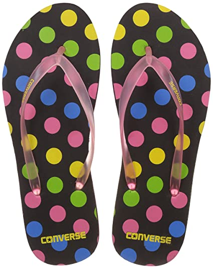 391fe9386303 Converse Women s Black Pink Flip-Flops and House Slippers -7 UK India (40  EU)  Buy Online at Low Prices in India - Amazon.in