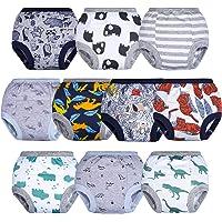 BIG ELEPHANT Toddler Potty Training Pants- 100% Cotton Unisex Baby Pee Underpants 10-pack, 12M-4T