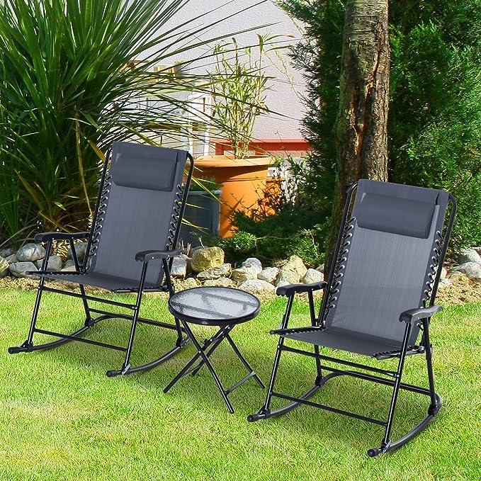 Amazon.com: Juego de 3 piezas de sillas de patio para ...