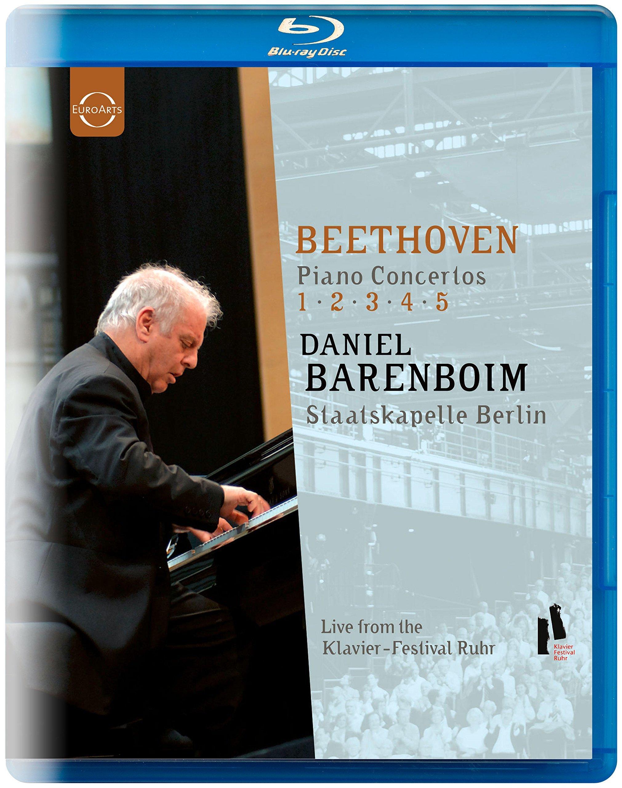 Blu-ray : STAATSKAPELLE BERLIN, DANIEL BARENBOIM - Piano Concertos 1-5 (Blu-ray)