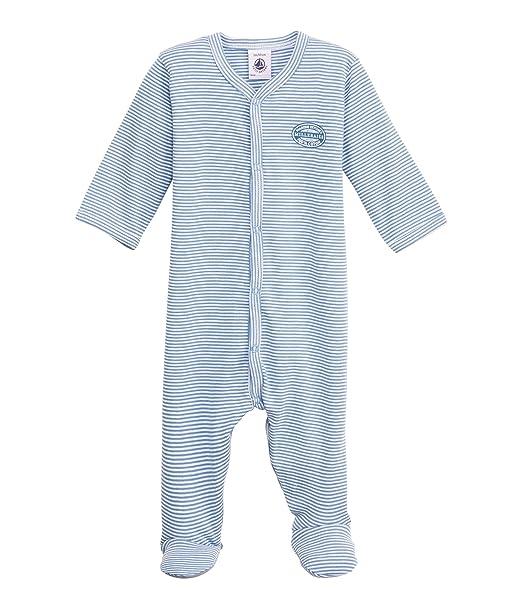 Petit Bateau - Pijama con cuello barco de manga larga para bebé, talla 92 (