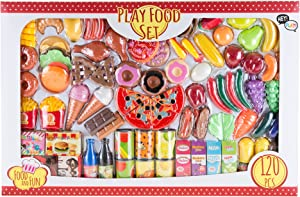 Hey! Play! Pretend Play Assorted Food Set - Fresh, Boxed and Canned Food
