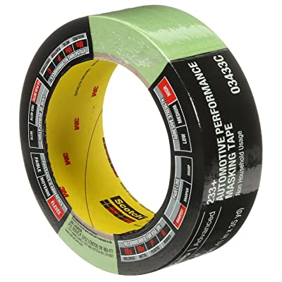 3M 6654 Yellow 36 mm x 55 m 06654 Automotive Refinish Masking Tape-36 mm: Garden & Outdoor