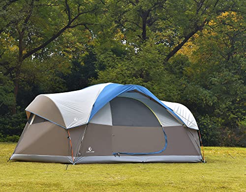 ALPHA CAMP 6 8 Person Family Tent Dome Camping Tent with Carry Bag and Rainfly