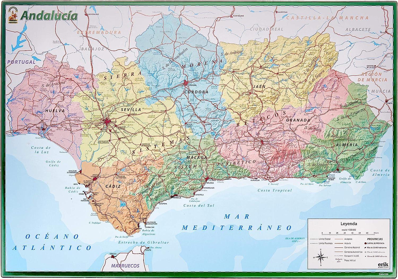 Vade Escolar Mapa De Andalucia: Amazon.es: Oficina y papelería