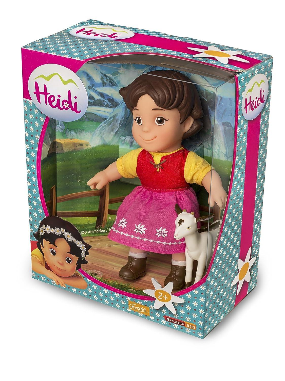 17 cm Famosa 700012250 Heidi Personaggio con la sua capretta